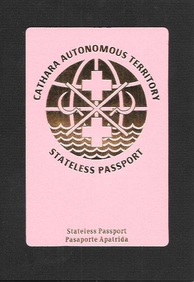 Cathara Autonomous Territory Stateless Passport (English)