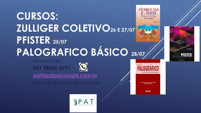 CURSOS DE ZULLIGER COLETIVO, PFISTER E PALOGRÁFICO