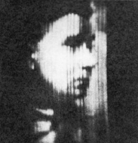 John Logie Baird, the first 30-line electrical image, transmitted from London to Hartsdale, NY on February 9, 1928.