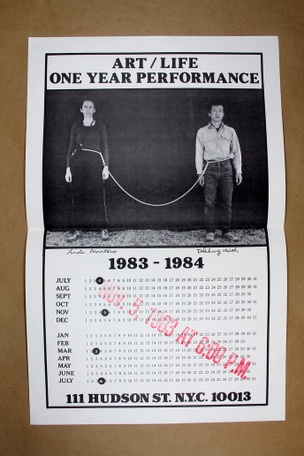 Art/Life One Year Performance Poster [Rope]