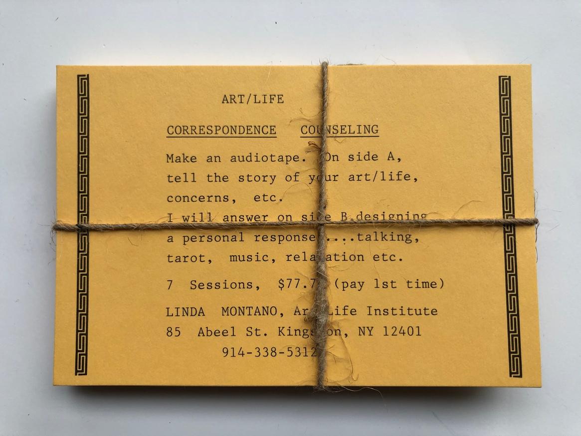 Linda Montano Letterpress & Rare Postcard Bundle