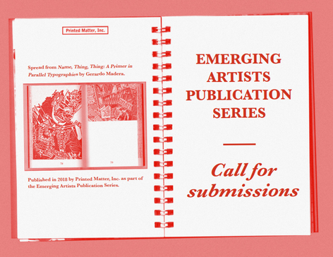 Emerging Artists Publication Series — Call for Submissions 2018