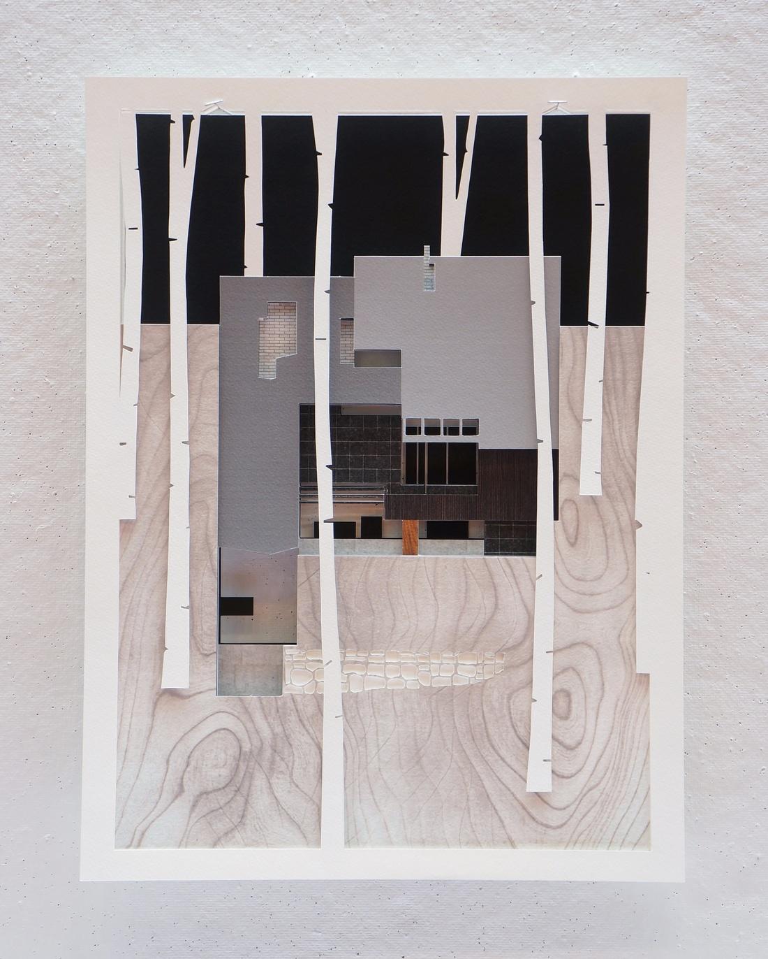 Collage of Alvar Aalto House
