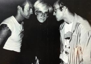 Patrick McMullan Exhibition Card (Kenny Scharf, Andy Warhol, Keith Haring)