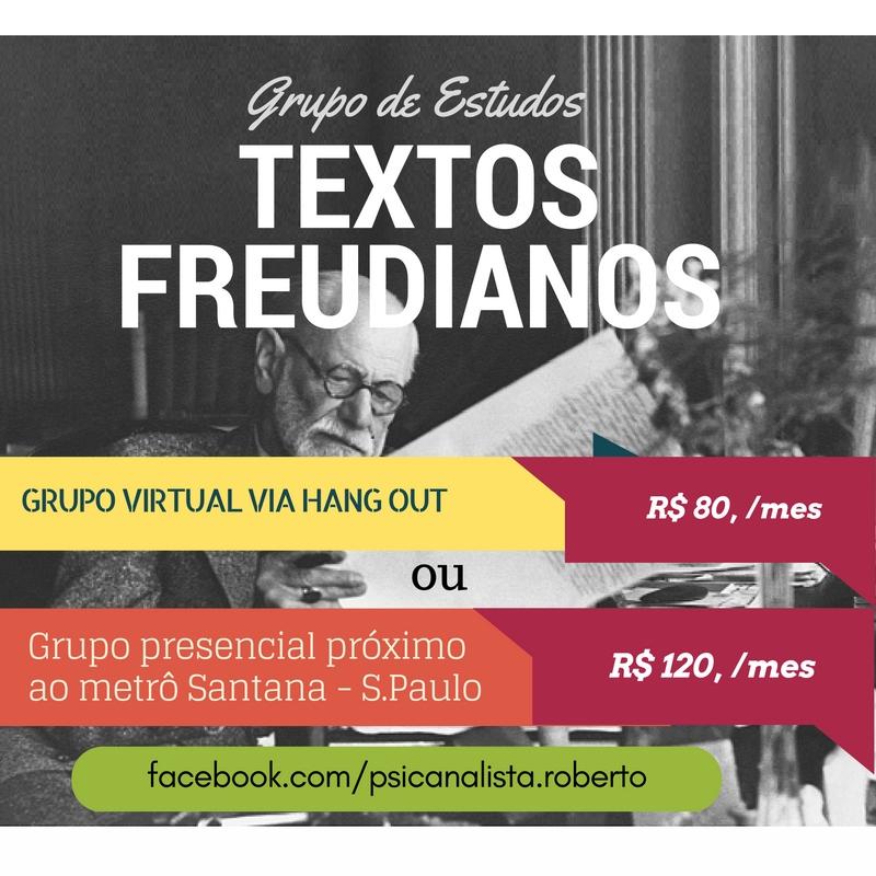 Grupo de estudos Textos Freudianos - online e presencial