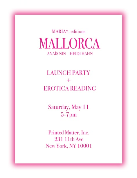 Mallorca: Book Launch and Reading with MARIA†.