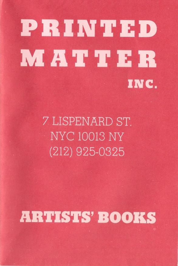 Printed Matter Inc. Mail Order Broadsheet
