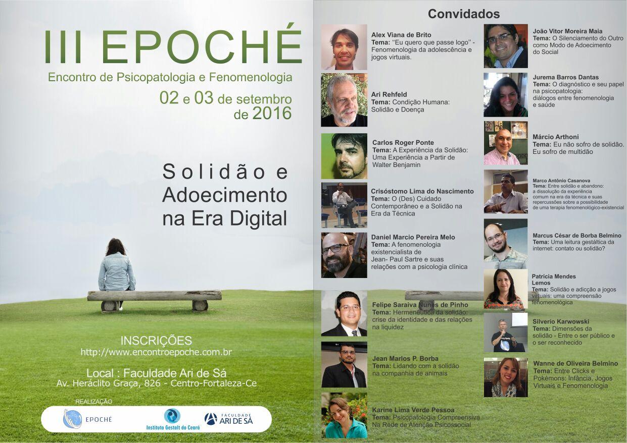 III Epoché Encontro de Psicopatologia e Fenomenologia - Solidão e Adoecimento na Era Digital