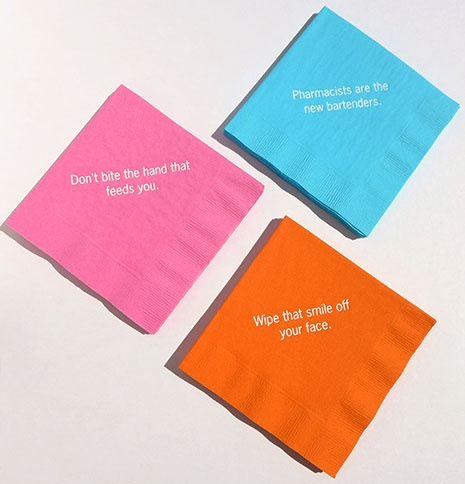 Thoughts in My Head Napkins