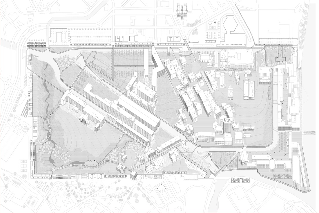 Urban plan drawing