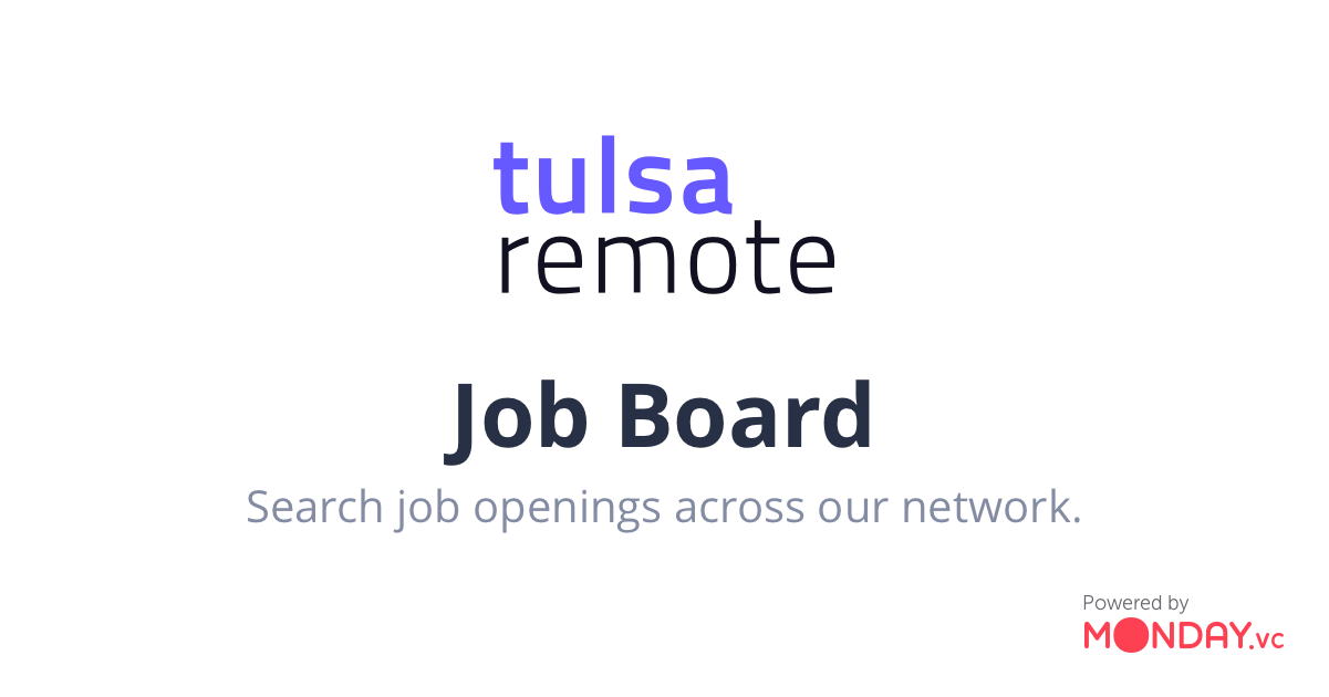 Jobs | Tulsa Remote Job Board