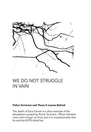 WE DO NOT STRUGGLE IN VAIN