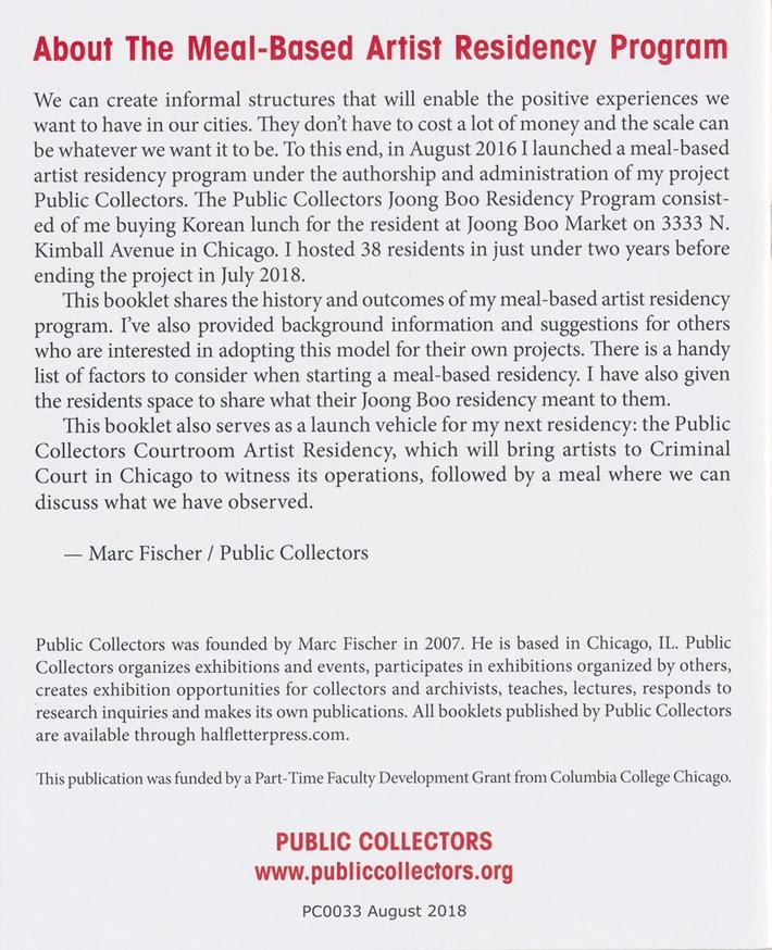 The Meal-Based Artist Residency Program thumbnail 3