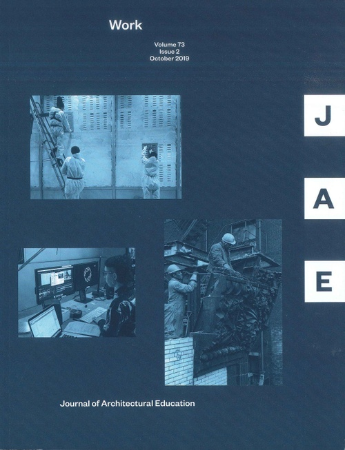 Cover of Journal of Architectural Education, Work issue