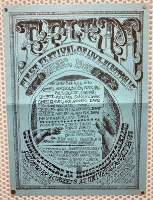 First Festival of Live Electronic Music, Mills College Concert Hall, December 4, 5, 6, 1967 [Poster]