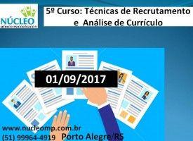 Técnicas de Recrutamento e Análise de Currículo 01/09