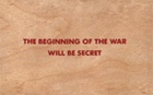 The Beginning of the War Will Be Secret Wooden Postcard