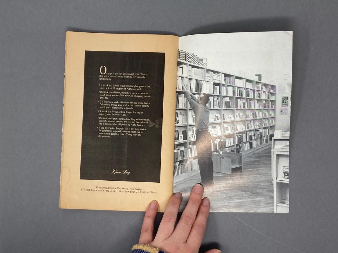 Printed Matter Bookstore at Dia Spring 1991 Catalog thumbnail 6