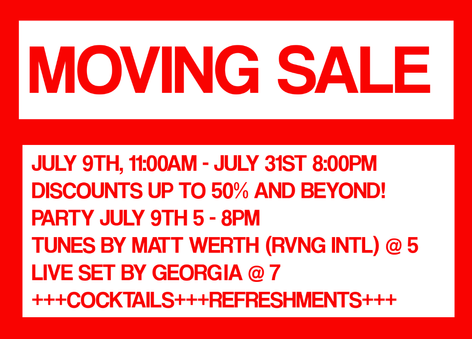 Moving Sale! 10-40% off most items in store