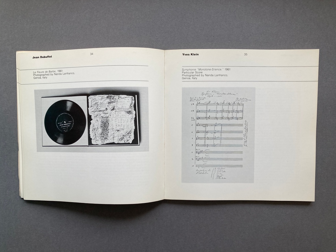 The Record as Artwork from Futurism to Conceptual Art: The Collection of Germano Celant thumbnail 3