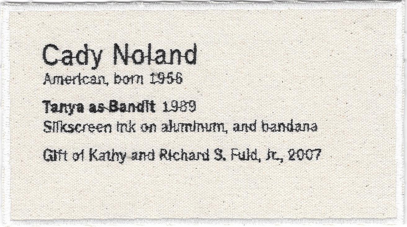 Permanent Collection Canvas Patch: Cady Noland