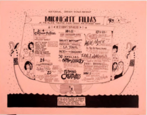 Nocturnal Dreams Shows Present Midnight Films, Palace Theater, San Francisco, October 1969