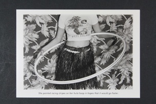 She Painted Racing Stripes on Her Hula Hoop... Postcard