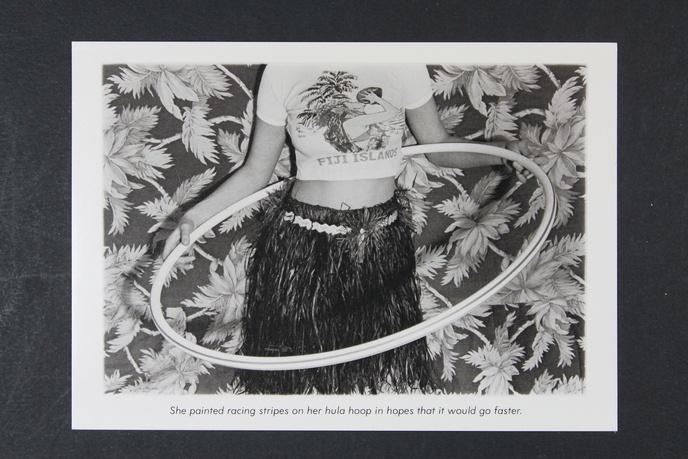 She Painted Racing Stripes on Her Hula Hoop... Postcard