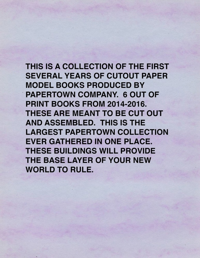Papertown Complete Cut Outs Vol. 1: 2014-2016 thumbnail 3