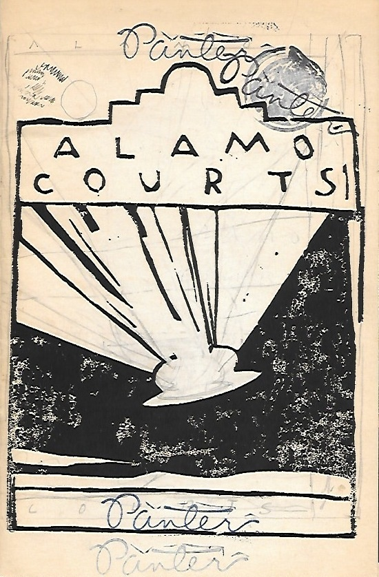 Gary Panter - A Night at Alamo Courts [Silkscreen Cover