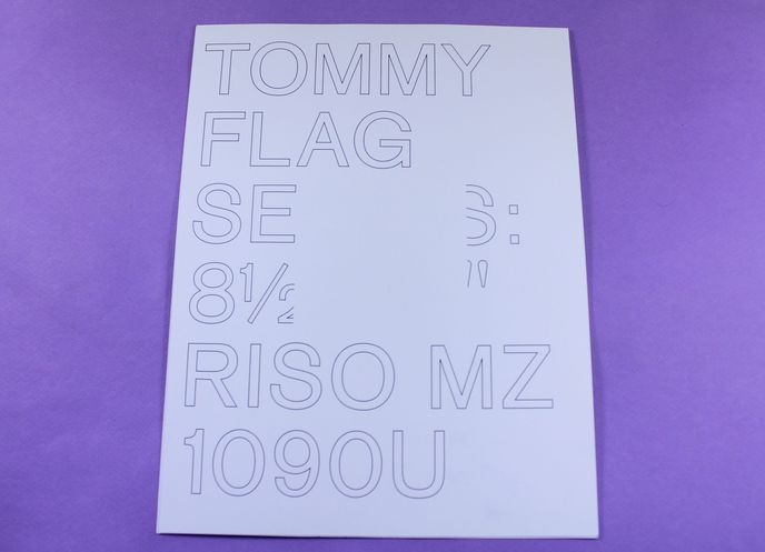Tommy Flag Series: 8.5 × 11″, Riso MZ 1090U