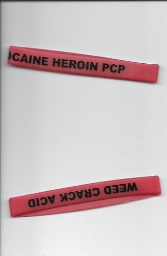 Cocaine Heroin PCP Weed Crack Acid Bracelet