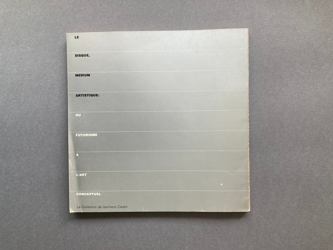 The Record as Artwork from Futurism to Conceptual Art: The Collection of Germano Celant thumbnail 8