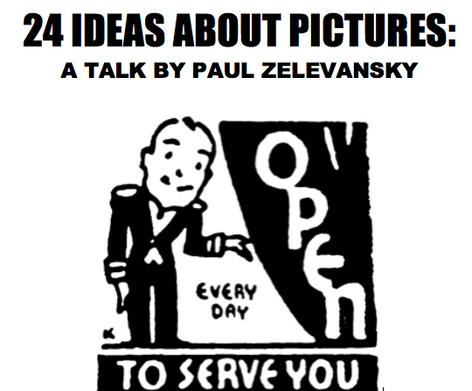 24 Ideas About Pictures — A lecture by Paul Zelevansky