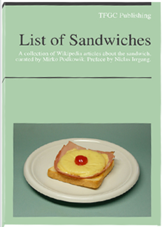 List of Sandwiches