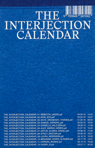 The Interjection Calendar