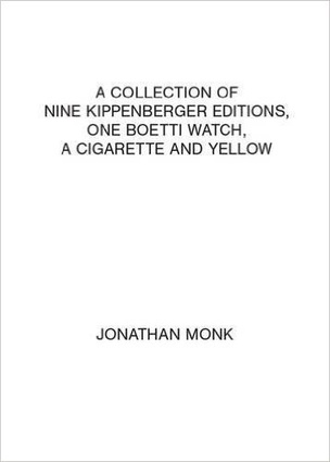 A collection of nine Kippenberger editions, one Boetti watch, a cigarette and yellow Playing Cards