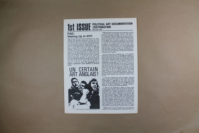 Upfront : A Publication of Political Art Documentation / Distribution