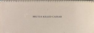 Brutus Killed Ceasar