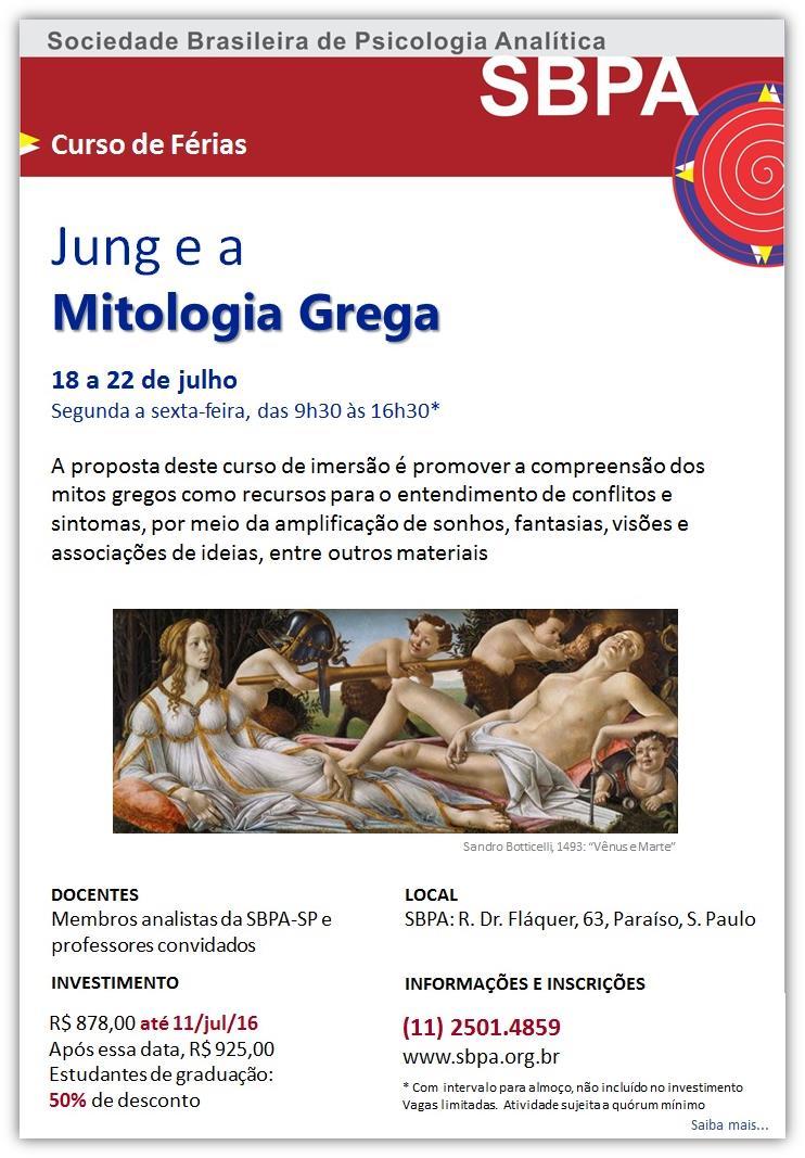 Curso de Férias: Jung e a Mitologia Grega