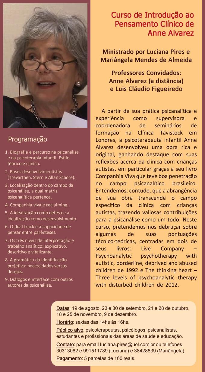 Curso sobre Anne Alvarez