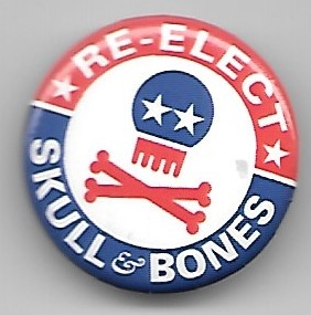 RE-ELECT SKULL & BONES Pin thumbnail 1