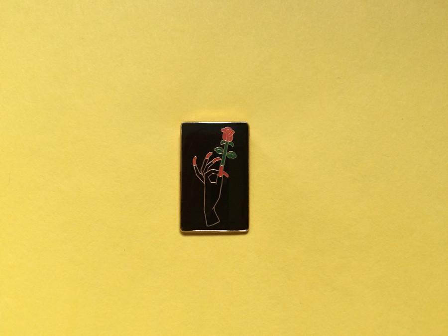 Rose Hand Pin