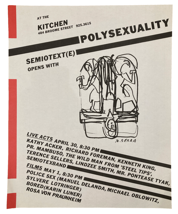 Polysexuality, April 30-May 1, 1981 [The Kitchen Posters]