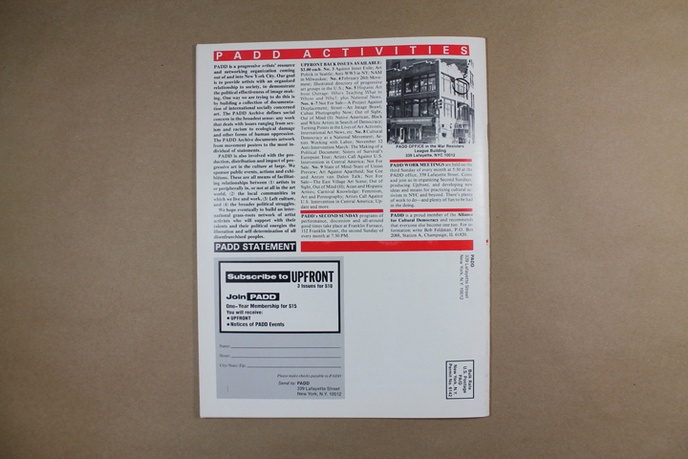 Upfront : A Publication of Political Art Documentation / Distribution thumbnail 5