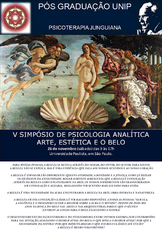 V Simpósio de Psicologia Analitica Arte, Estética e o Belo