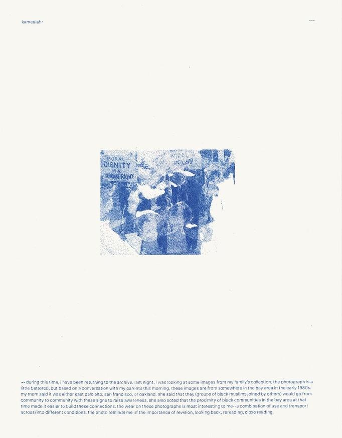 Prints of Protest: Boxed Set (Prints by Anaïs Duplan, Kameelah Janan Rasheed, Julian Louis Phillips, Tony Cokes, Neema Githere, and Erica Génécé) thumbnail 7