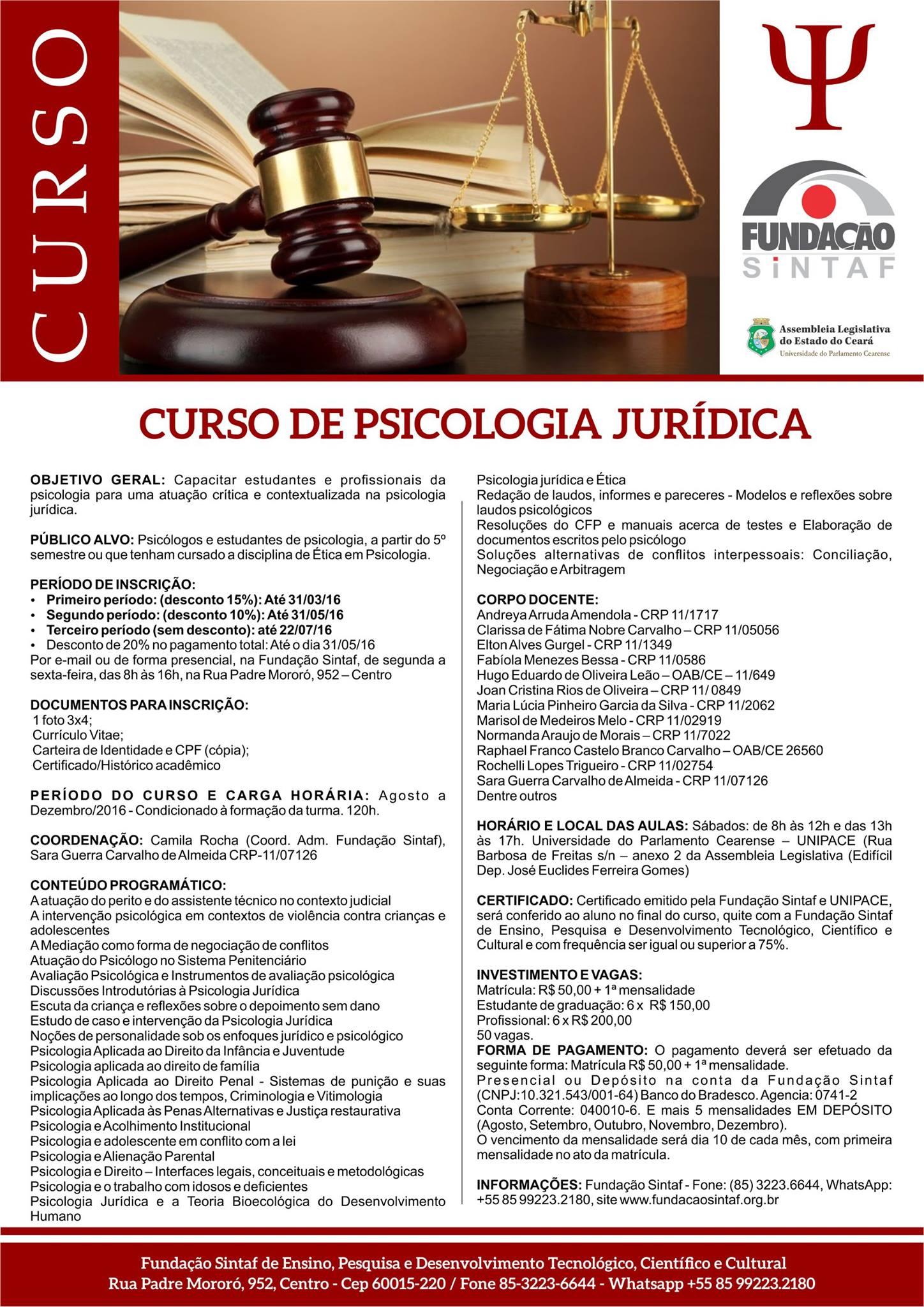 II Curso de Psicologia Jurídica