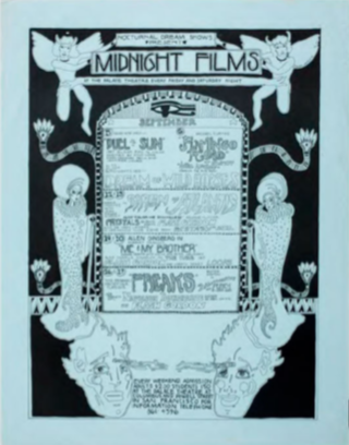Nocturnal Dreams Shows Present Midnight Films, Palace Theater, San Francisco, September 1969