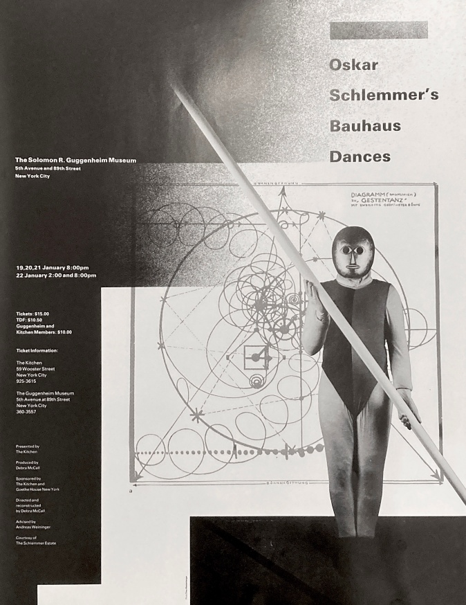 Bauhaus Dances, January 19-22, 1984 [The Kitchen Posters]